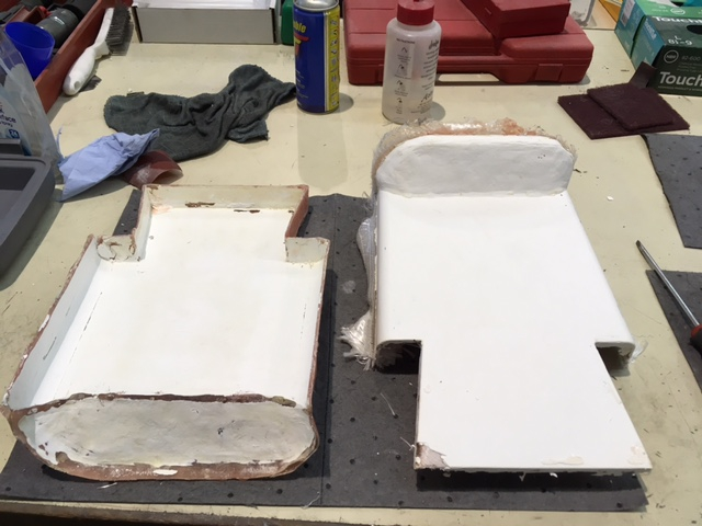 Final piece on the right fresh out of the mould on the left